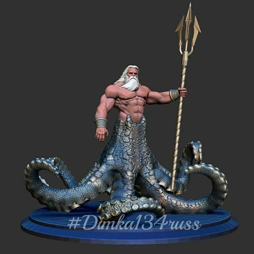Télécharger fichier imprimante 3D dieu de la grèce Poséidon, dimka134