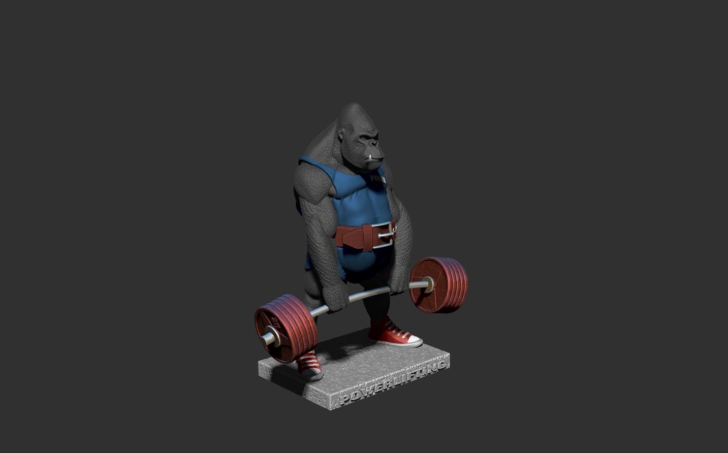 ZBrush Documentщщд.jpg Télécharger fichier STL gorille • Objet imprimable en 3D, dimka134russ