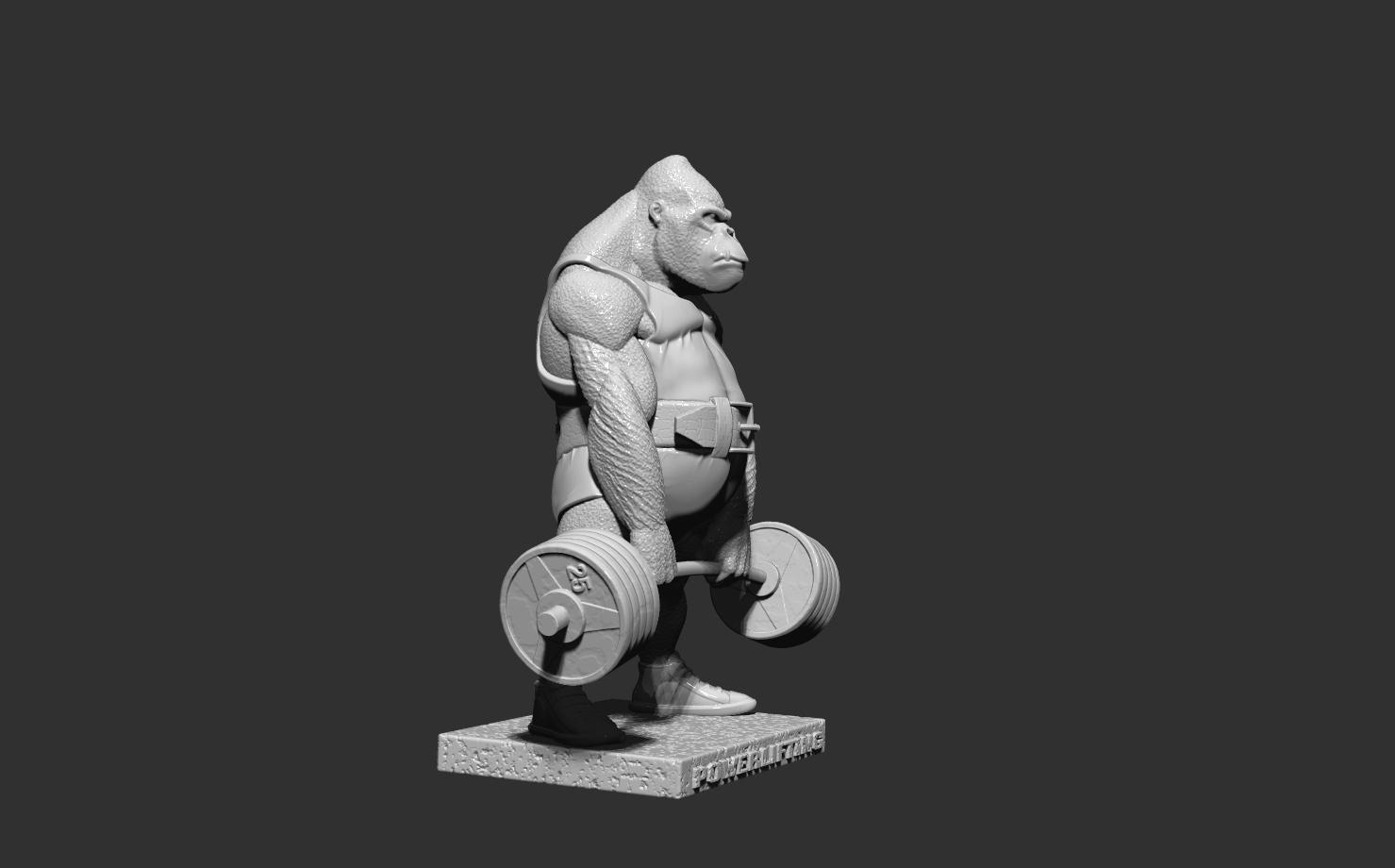 ZBrush Document5.jpg Télécharger fichier STL gorille • Objet imprimable en 3D, dimka134russ