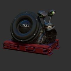 Download STL file snail subwoofer • 3D print object, dimka134russ