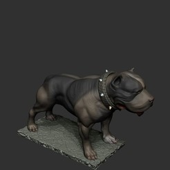 ZBrush Documentпау4.jpg Download STL file staffordshire terrier • 3D printable template, dimka134russ