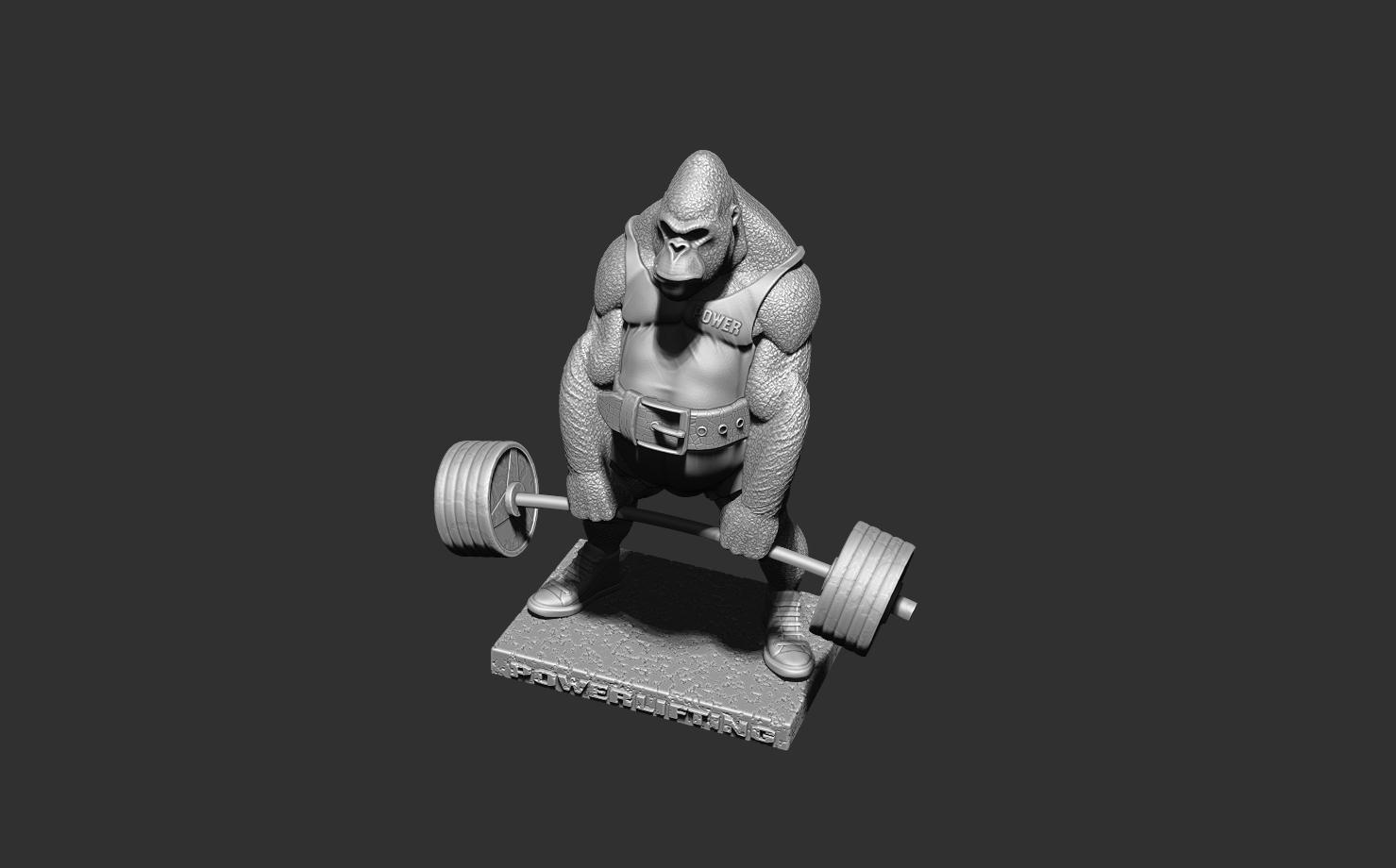 ZBrush Document4.jpg Télécharger fichier STL gorille • Objet imprimable en 3D, dimka134russ