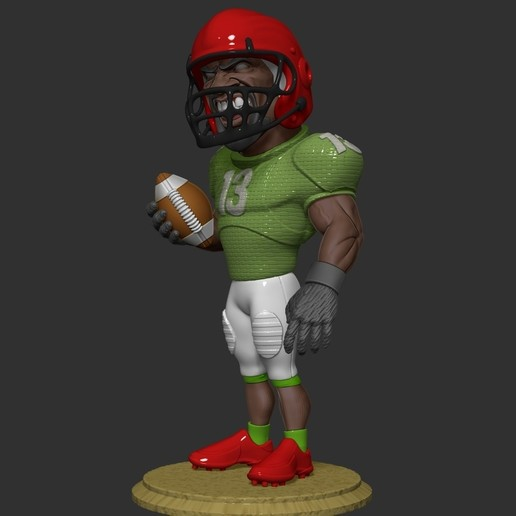 ZBrush Document3.jpg Download free OBJ file football player • 3D printer object, dimka134russ
