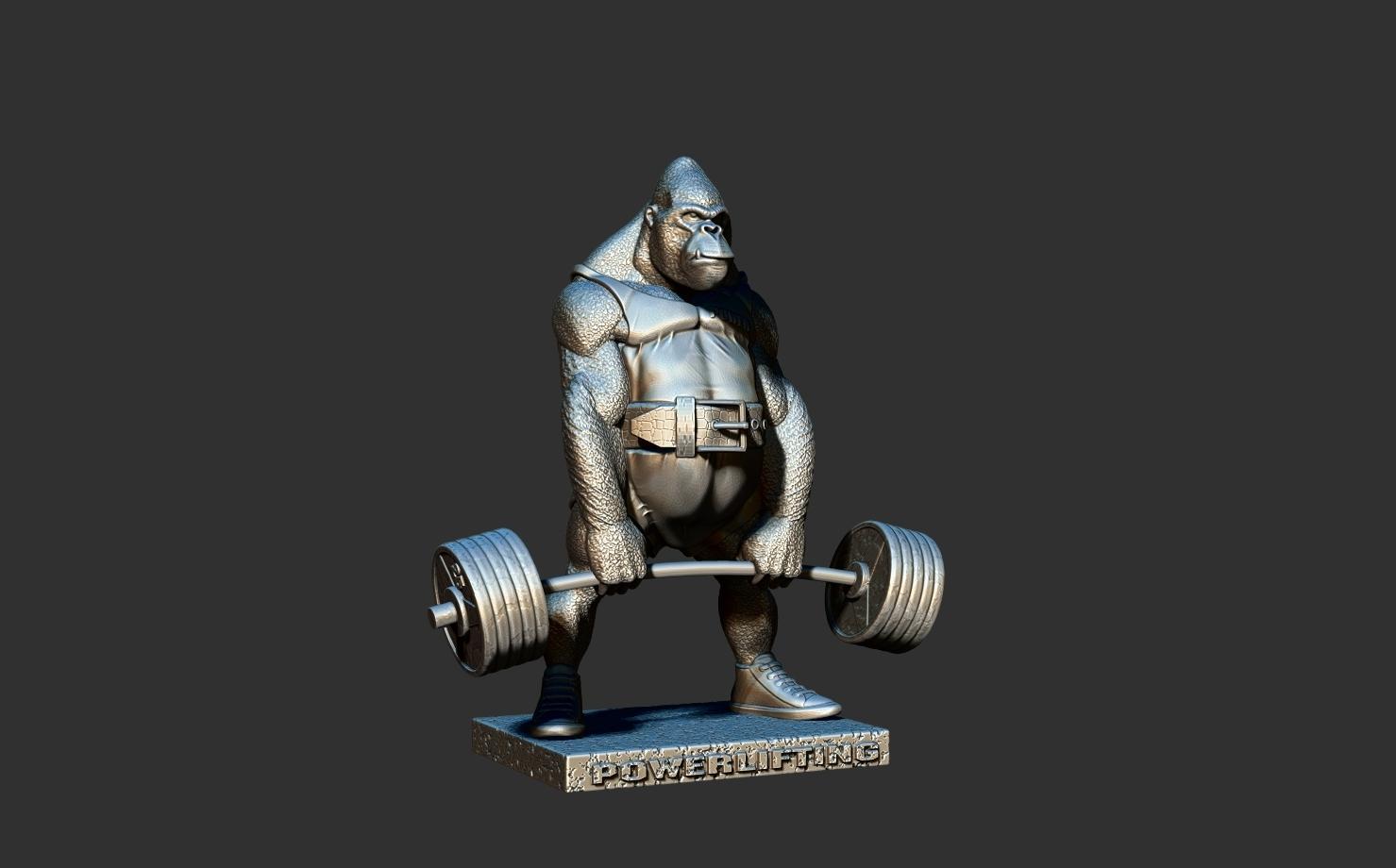 ZBrush Document1.jpg Télécharger fichier STL gorille • Objet imprimable en 3D, dimka134russ