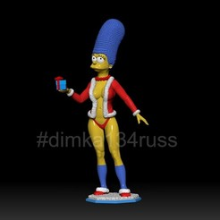 ZBrush Documentkl.jpg Download STL file Simpsons Marge  • 3D printer object, dimka134russ