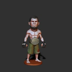 ZBrush Docume.jpg Download STL file fighter mma ufc ,stl.obj • 3D printable object, dimka134russ