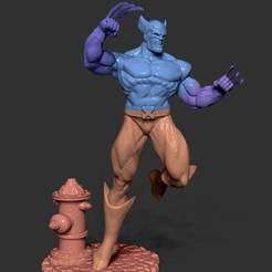 Descargar diseños 3D wolverine x men, dimka134