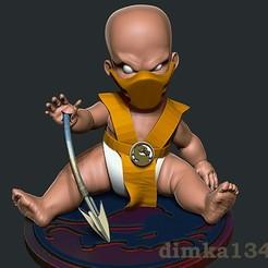 Download 3D printing models mortal kombat scorpion, dimka134russ