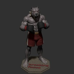 ZBrush Documentjj.jpg Download STL file dog fighter • 3D printer template, dimka134russ