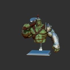 Descargar modelo 3D busto de hulk, dimka134russ