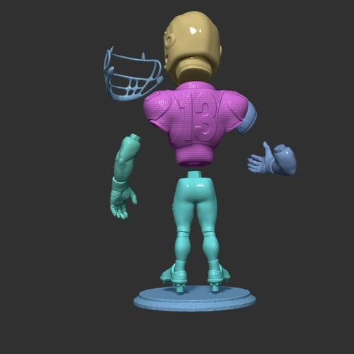 ZBrush Document75.jpg Download free OBJ file football player • 3D printer object, dimka134russ