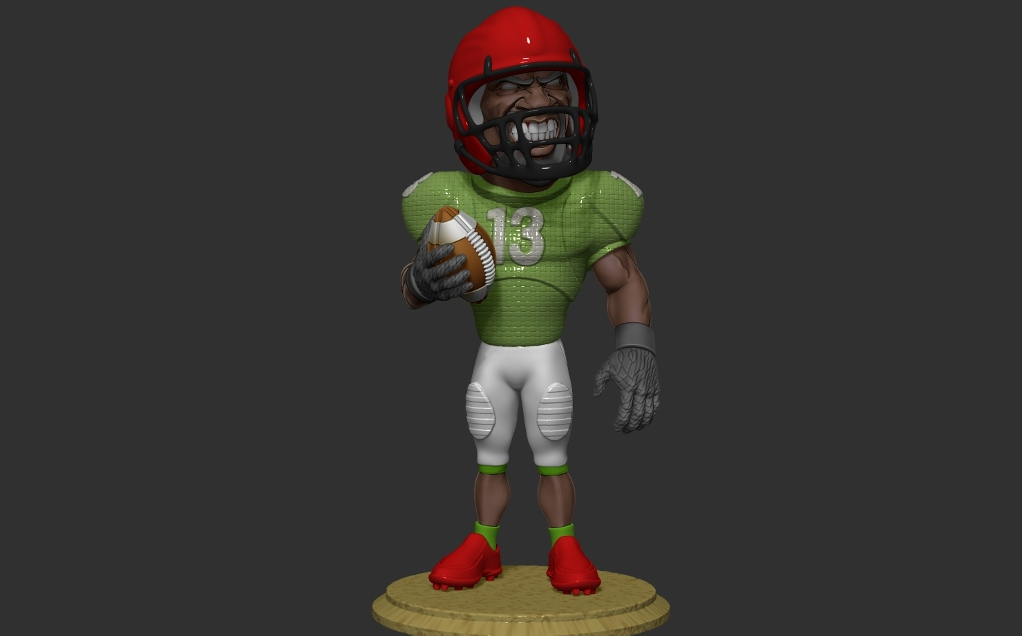 ZBrush Document1.jpg Download free OBJ file football player • 3D printer object, dimka134russ