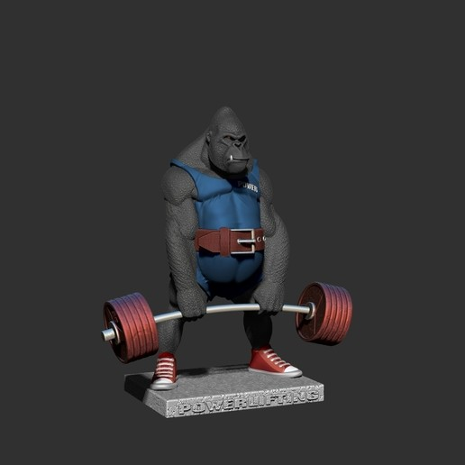ZBrush Documentенш.jpg Télécharger fichier STL gorille • Objet imprimable en 3D, dimka134russ