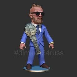 yt.jpg Download STL file Conor McGregor • 3D print object, dimka134russ