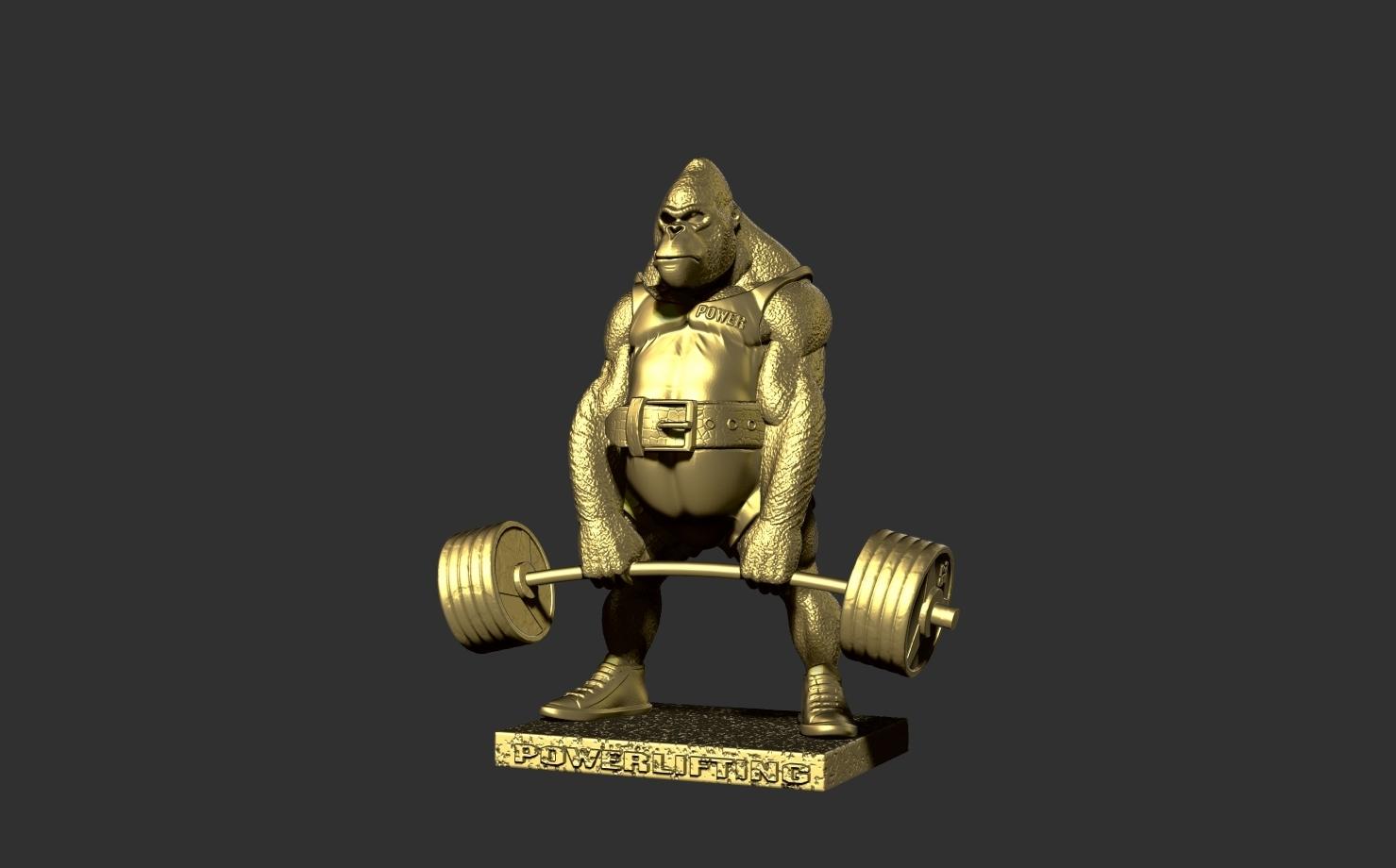ZBrush Document2.jpg Télécharger fichier STL gorille • Objet imprimable en 3D, dimka134russ