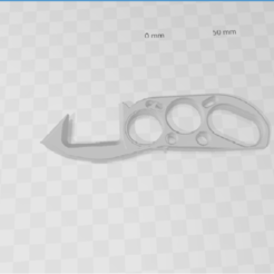 Download free 3D print files door opener covid-19 stile american fist, bricostrat