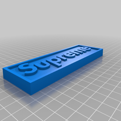 supremeborder.png Télécharger fichier STL gratuit Divers Aimants • Plan imprimable en 3D, EmbossIndustries