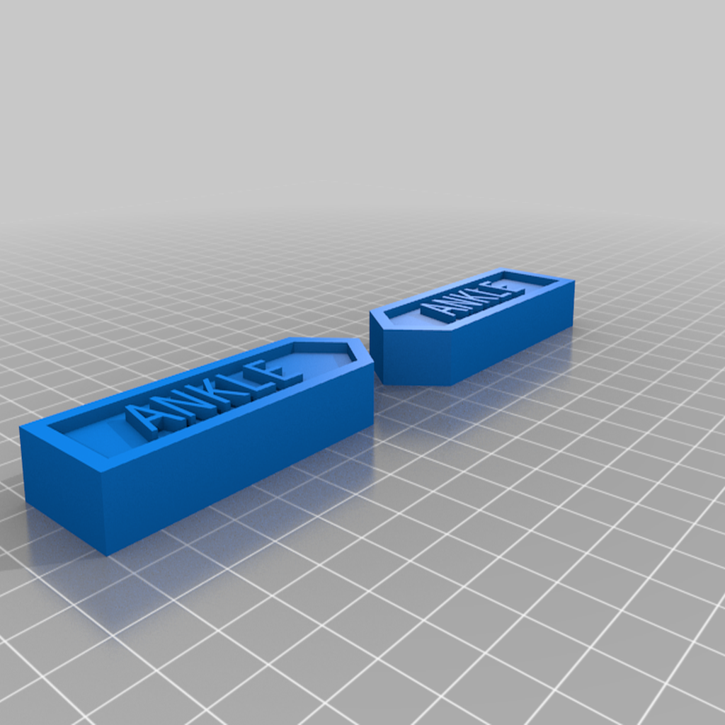 Ankle.png Download free STL file Body Part Arrow Magnets • 3D printable model, EmbossIndustries