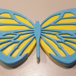 Download free STL Butterfly Magnet, EmbossIndustries