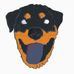 Download free STL Rottweiler Magnet, EmbossIndustries
