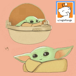 BabyYodaPic.png Download free STL file Baby Yoda Cookie Cutters • 3D printable model, EmbossIndustries