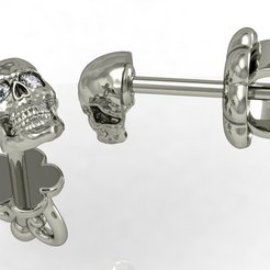 Download 3D model stud earring human scull  , sergotall1977