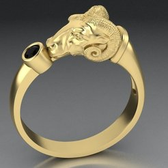 4.jpg Download 3DS file Men's ring mouflon two sizes • Template to 3D print, sergotall1977