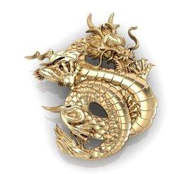 3D print model dragon  pendant , sergotall1977