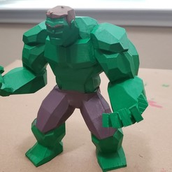 Download STL file Low Poly Hulk v2 • Template to 3D print, mjbaldwin0352