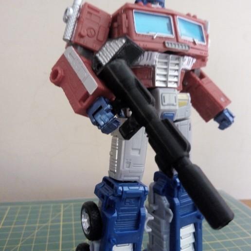 Impresiones 3D gratis Transformadores Earthrise 5mm compatibles con el rifle de iones para Optimus Prime, MetaCreateStudios