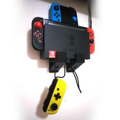 1.jpg Télécharger fichier STL Nintendo Switch Wall Mount • Design pour impression 3D, FOM