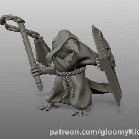 Descargar archivos STL gratis Kenku Death Cleric, GloomyKid