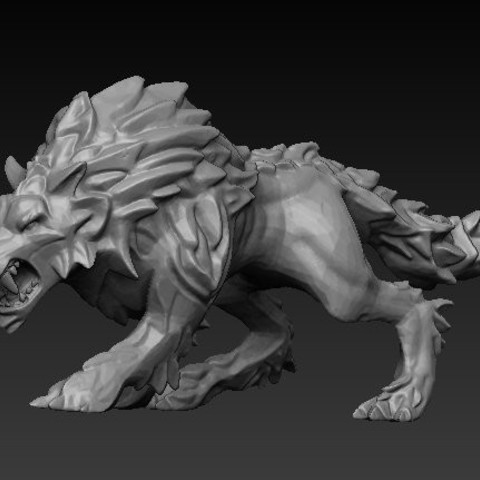 Descargar Modelos 3D para imprimir gratis Lobo, GloomyKid