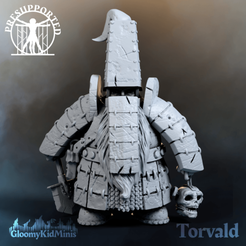 banner_insta.png Download free STL file Torvald Sturlagson, Mountain Dwarf Necromancer • Template to 3D print, GloomyKid