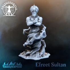 Efreet_Sultan.png Download free 3MF file Efreet Sultan • 3D printer design, GloomyKid