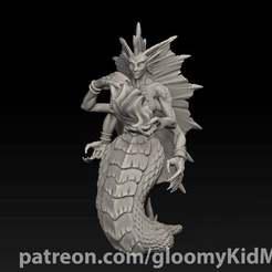 naga_2.jpg Download free STL file Naga Sorceress • 3D print model, GloomyKid