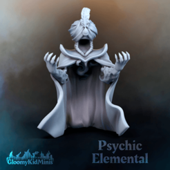 Psychic_Elemental.png Download free STL file Psychic Elemental (supportless) • 3D printable model, GloomyKid