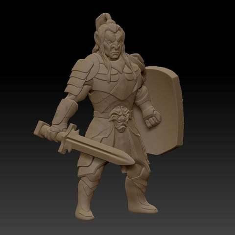 Descargar archivo 3D gratis Hobgoblin (espada y escudo), GloomyKid