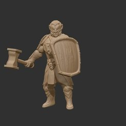 Download free 3D printer designs Hobgoblin (hammer and shield), GloomyKid