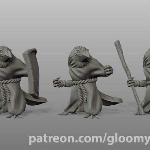 Descargar archivo 3D gratis Clérigo Kenku (variaciones), GloomyKid