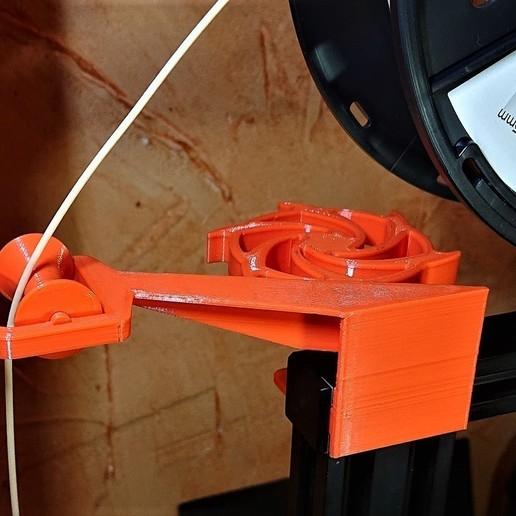 Télécharger objet 3D gratuit Guide-filament avec rouleau - face avant, cedb74