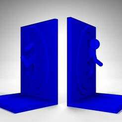 portal2.jpg Download STL file bookend portal (for books or games) • 3D printer object, ramon_lol123