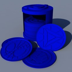 1.jpg Télécharger fichier STL Coasters Avengers super-héros • Modèle à imprimer en 3D, ramon_lol123