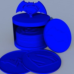 pack_1.jpg Télécharger fichier STL Le super-héros de Coasters DC • Plan pour imprimante 3D, ramon_lol123