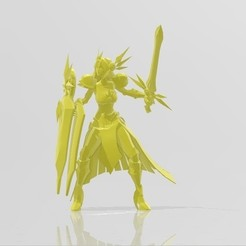 Download free STL file Leona + Protect skin LOL • 3D printer template, STLOL