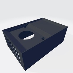 Descargar archivos 3D Caja para ventilador + perilla, jerex48