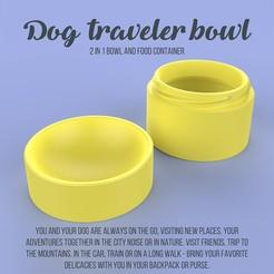 1.jpg Télécharger fichier STL Gamelle pour chien voyageur • Design imprimable en 3D, fokuspace