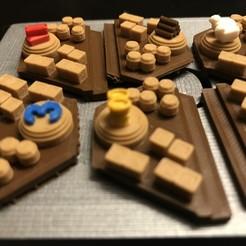 2019-09-02_01.43.37.jpg Télécharger fichier STL gratuit Catan Harbor Pieces - Buse simple, couches multicolores • Objet pour impression 3D, Hardcore3D