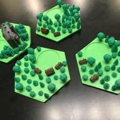 Descargar archivos 3D gratis Catan Wood Tiles - Boquilla única, capas multicolores, Hardcore3D