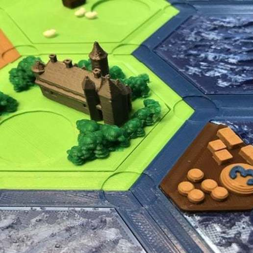 featured_preview_2019-09-01_17.38.14.jpg Download free STL file Complete Catan Tile Set - Single Nozzle, Multi-color Layers • 3D printing model, Hardcore3D